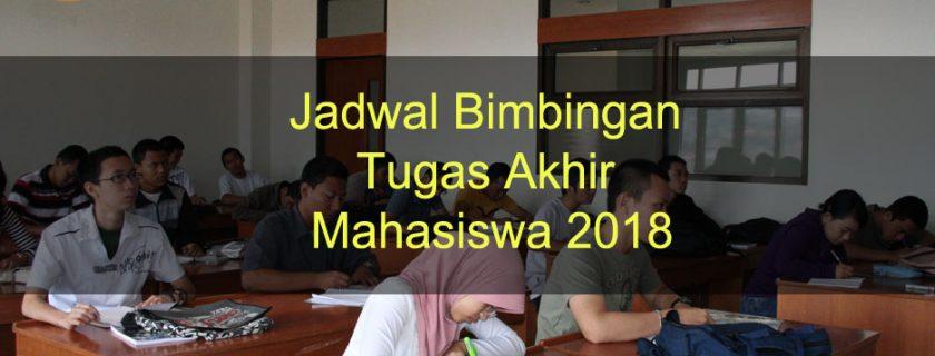 Jadwal Bimbingan Tugas Akhir Mahasiswa/i Fakultas DKV 2018